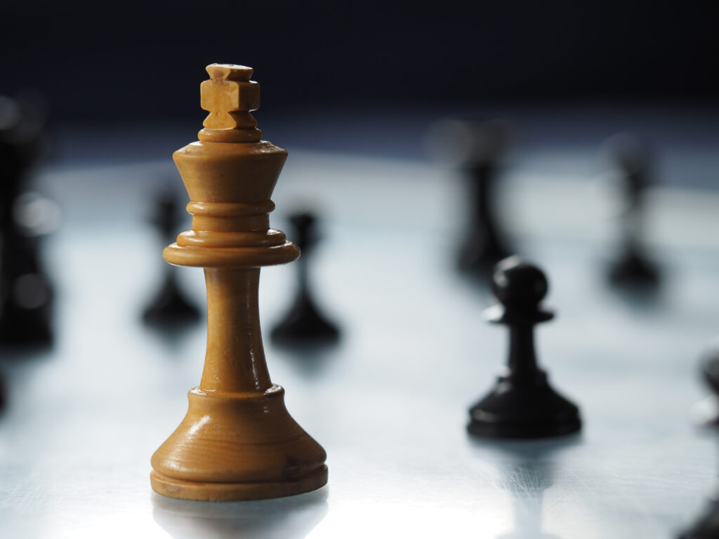 Image of close-up Chess piece