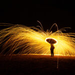 Light Painting with Light Tubes and Burning SteelWool